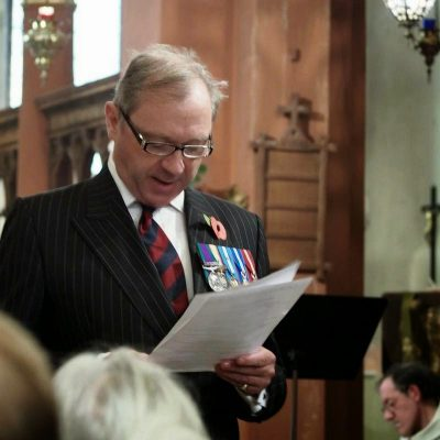 Churchwarden Colonel Mark Ridley
